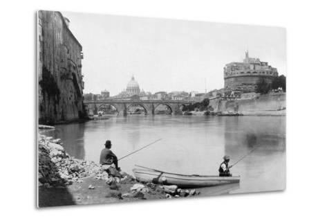 View of Rome and the Tiber (1900)--Metal Print
