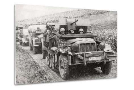 A German Half-Track Mounted Anti-Aircraft Gun--Metal Print