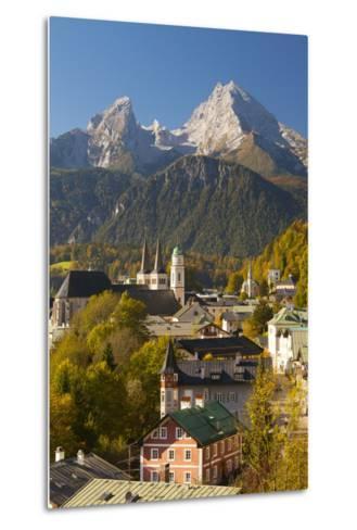 View of Berchtesgaden in Autumn with the Watzmann Mountain in the Background-Miles Ertman-Metal Print