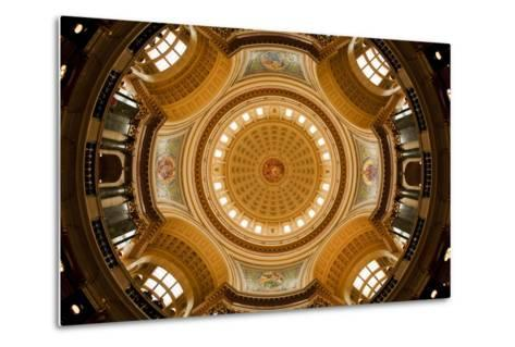Dome in the Wisconsin State Capitol-Paul Souders-Metal Print