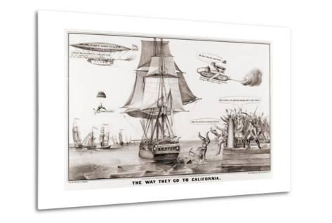 The Way They Go to California--Metal Print