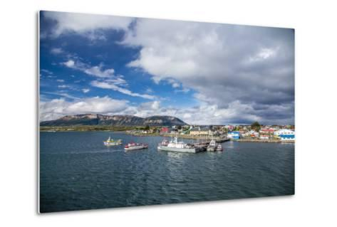 The Harbour Town of Puerto Natales, Patagonia, Chile, South America-Michael Nolan-Metal Print