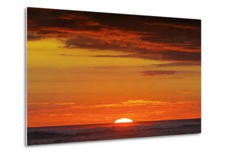 Sunset and Sunlit Clouds over Playa Guiones Surf Beach-Rob Francis-Metal Print