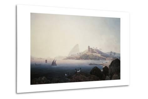 View of the Gloria Church and Sugarloaf Mountain, Rio De Janeiro-Thomas Ender-Metal Print