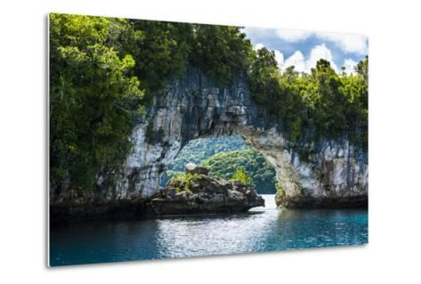 Rock Arch in the Rock Islands, Palau, Central Pacific, Pacific-Michael Runkel-Metal Print