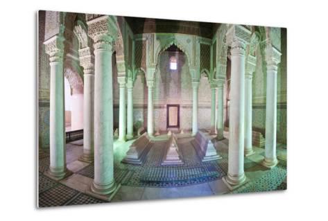 Interior of the Saadien Tombs, Marrakech, Morocco, North Africa, Africa-Matthew Williams-Ellis-Metal Print