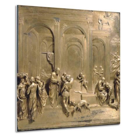Jacob and Esau from the Gates of Paradise-Lorenzo Ghiberti-Metal Print