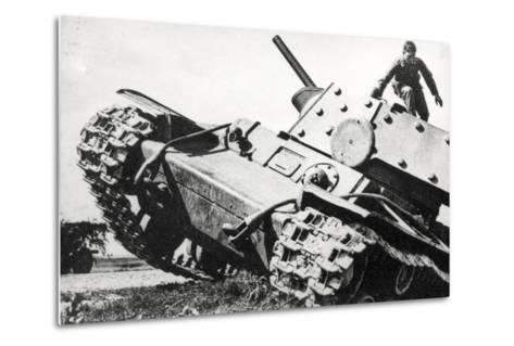 Kv-1 Kliment Voroshilov Heavy Tank--Metal Print