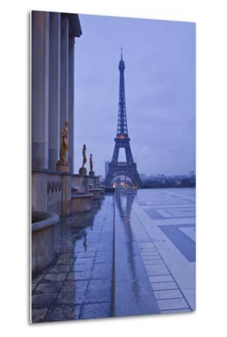 The Eiffel Tower under Rain Clouds, Paris, France, Europe-Julian Elliott-Metal Print