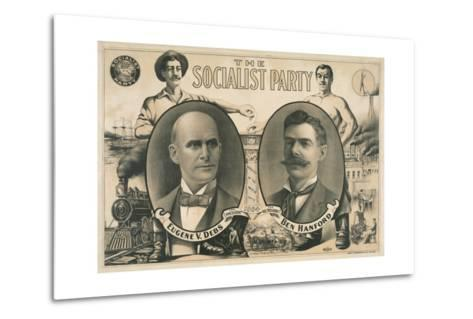 Poster for Socialist Presidential Ticket of 1904--Metal Print