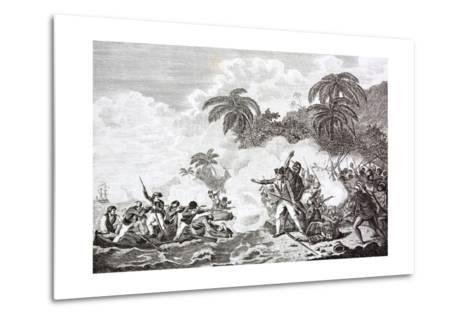 The Death of Captain James Cook, 1728 - 1779--Metal Print