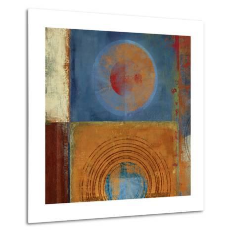 Orbis Orange and Blue-Anna Polanski-Metal Print