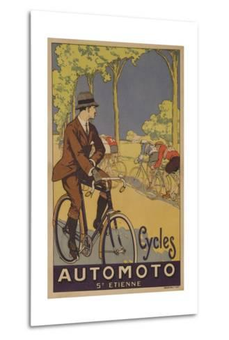 Cycles Automoto St Etienne French Advertising Poster--Metal Print