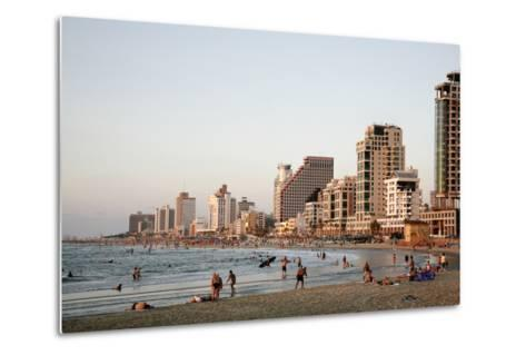 Beach, Tel Aviv, Israel, Middle East-Yadid Levy-Metal Print