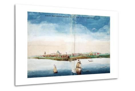 Gezicht Op Nieuw Amsterdam (A View of New Amsterdam, Aka New York City or Manhattan)-Johannes Vingboon-Metal Print