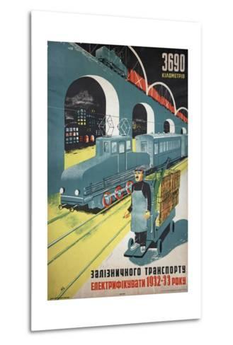 Soviet Propaganda Poster--Metal Print