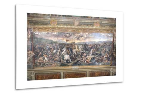 Constantine's Battle at the Milvian Bridge-Raphael-Metal Print