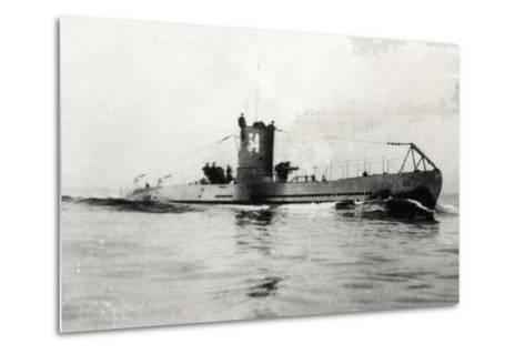 German Type Viia Submarine U-34--Metal Print