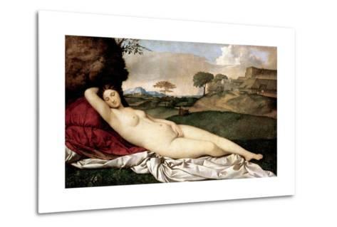 Sleeping Venus-Giorgione-Metal Print