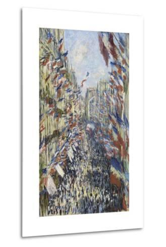 The Rue Montorgueil in Paris, Celebration of June 30, 1878-Claude Monet-Metal Print