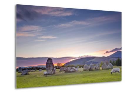 Castlerigg Stone Circle at Sunset-Julian Elliott-Metal Print