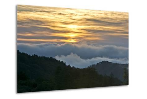 Sunset, Palo Coronado Canyon, California, USA-Michel Hersen-Metal Print