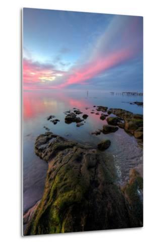 Divine Color at Sunset, San Pablo Bay, Bay Area--Metal Print
