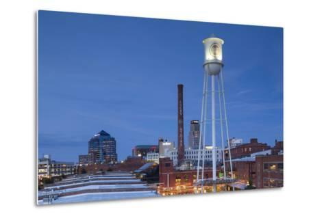 North Carolina, Durham, American Tobacco and City Center Complex, Dusk-Walter Bibikow-Metal Print