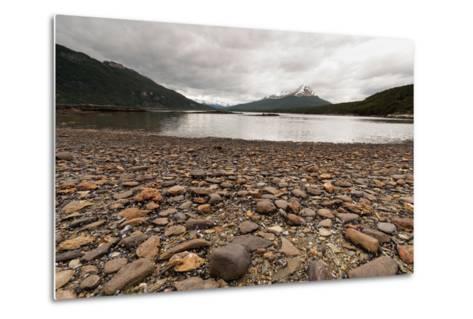 Shoreline Near Drake Passage, Tierra Del Fuego, Patagonia, Argentina-James White-Metal Print