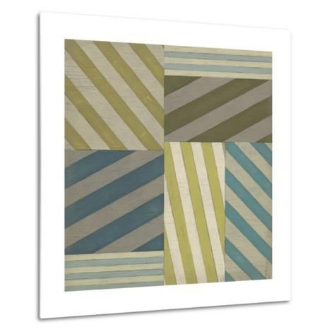 Nautical Stripes I-June Erica Vess-Metal Print