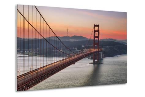 Morning Sky and South Tower, Golden Gate Bridge--Metal Print