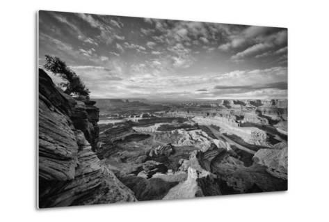 Classic Dead Horse Point in Black and White, Moab Utah--Metal Print