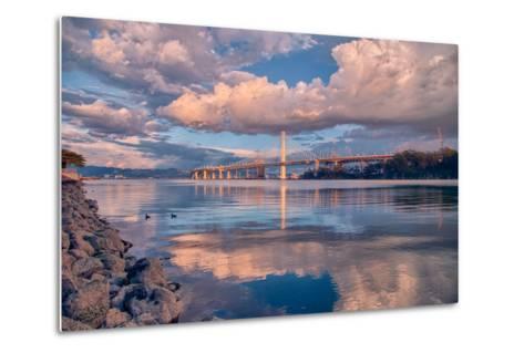Bay Bridge Cloudscape Wide, Oakland, California--Metal Print
