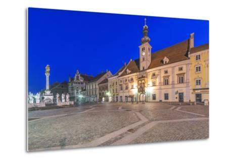 Slovenia, Maribor, Maribor Town Hall Square at Dawn-Rob Tilley-Metal Print