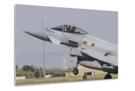 A Royal Air Force Eurofighter Ef2000 Typhoon Taking Off-Stocktrek Images-Metal Print