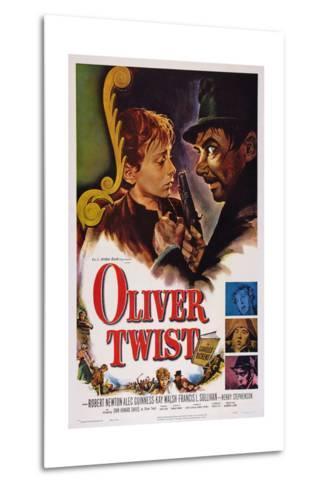 Oliver Twist, John Howard Davies, Robert Newton, 1948--Metal Print