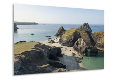 Lizard Peninsula, View of Kynance Cove-Guido Cozzi-Metal Print