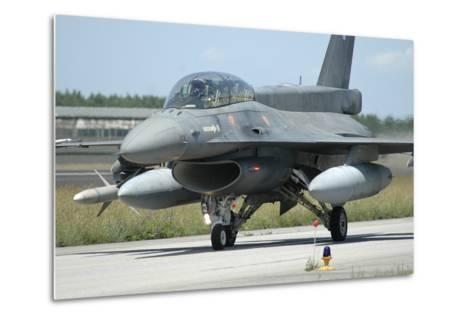 F-16D from the Hellenic Air Force Armed with Agm-88 Harm Missile-Stocktrek Images-Metal Print