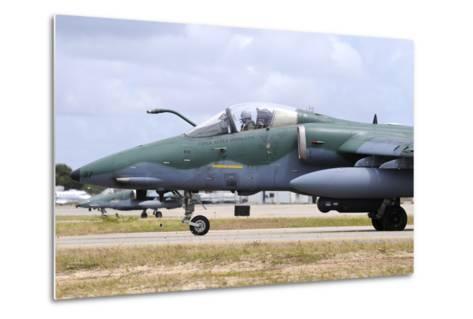 Brazilian Air Force A-1A (Amx) Taxiing at Natal Air Force Base-Stocktrek Images-Metal Print