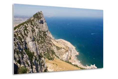 The Rock of Gibraltar Overlooking the Atlantic Ocean-Susan Degginger-Metal Print