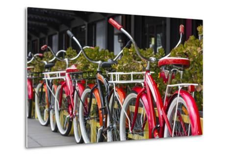 Australia, Victoria, Melbourne, Bicycles Outside Mars and Venus Bar-Walter Bibikow-Metal Print