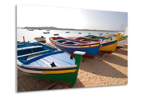 Colorful Fishing Boats of Alvor, Portugal, Europe-Susan Degginger-Metal Print