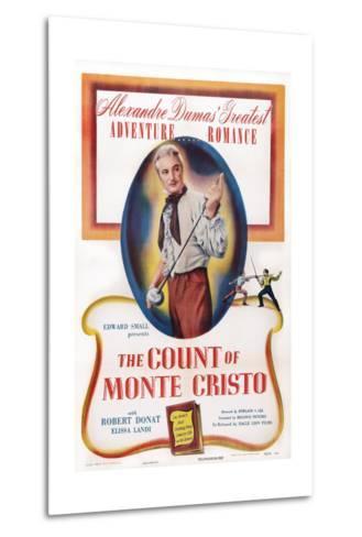 The Count of Monte Cristo, Robert Donat, 1934--Metal Print