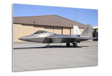 U.S. Air Force F-22A Raptor Taxiing at Holloman Air Force Base-Stocktrek Images-Metal Print