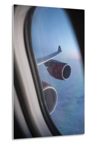 Airbus A340 Aircraft, View Out of the Window with Engine and Wing-Jon Arnold-Metal Print