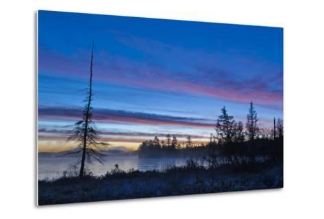 USA, New York, Adirondack Mountains. Raquette Lake at Sunrise-Jaynes Gallery-Metal Print