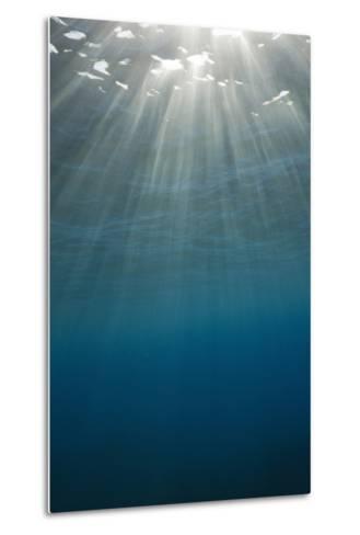 Sunbeams Filtering through the Ocean Surface-Reinhard Dirscherl-Metal Print
