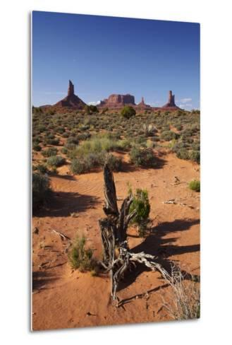 Navajo Nation, Monument Valley, Landscape of Mitten Rock Formations-David Wall-Metal Print