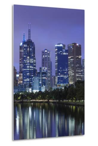 Australia, Victoria, Melbourne, Skyline Along Yarra River, Dawn-Walter Bibikow-Metal Print