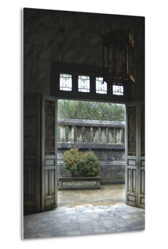 Vietnam. Doors Leading to a Patio, Khai Dinh Tomb, Hue, Thua Thien?Hue-Kevin Oke-Metal Print
